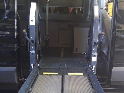 Ricon Slide Away Lift in Ford Transit